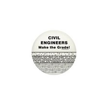 Civil Engineers Graded Mini Button
