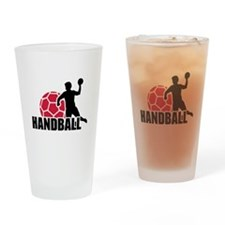 Handball player Drinking Glass
