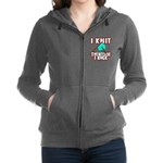 I Knit - Therefore I Rock Zip Hoodie