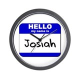 hello my name is josiah  Wall Clock