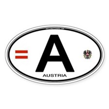 Austria Euro Oval Oval Decal