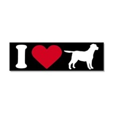 Cute Labrador puppy Car Magnet 10 x 3