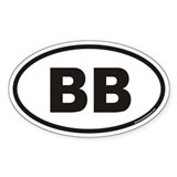 BB Euro Oval Decal