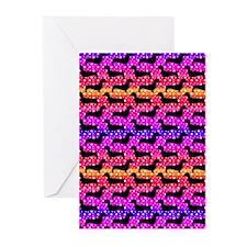Rainbow Dachshunds Greeting Cards