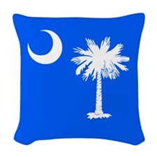 SC Palmetto Moon State Flag Blue Woven Throw Pillo