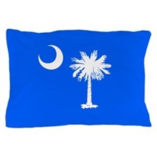 SC Palmetto Moon State Flag Blue Pillow Case