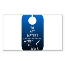 Writer At Work Rectangle Bumper Stickers