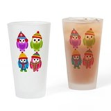 Animals and wildlife owl Pint Glasses