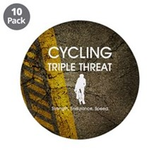"TOP Cycling Slogan 3.5"" Button (10 pack)"