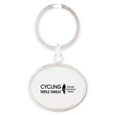 TOP Cycling Slogan Oval Keychain