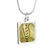 Gold Spooner Silver Square Necklace