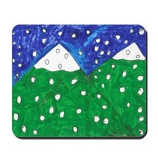 Snowy Mountains Mousepad