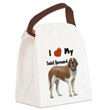 I Love My Saint Bernard Canvas Lunch Bag