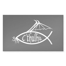 C'thulhu Fish Oval Decal