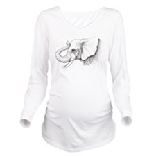 Elephant Art Long Sleeve Maternity T-Shirt