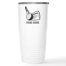 Personalized Name Golf Design Thermos Mug