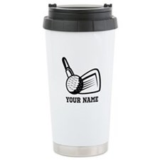 Personalized Name Golf Design Travel Mug