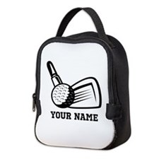 Personalized Name Golf Design Neoprene Lunch Bag