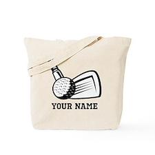 Personalized Name Golf Design Tote Bag