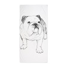 Bulldog Art Beach Towel