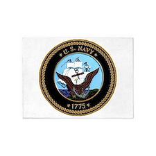 US Navy Logo 5'X7'area Rug