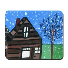 Snowing Night Mousepad