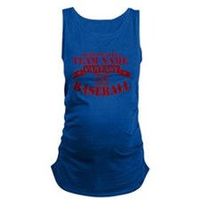 Your Team Fantasy Baseball Red Maternity Tank Top