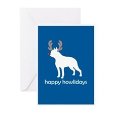 """Boston Terrier """"Happy Howlida Greeting Cards (Pack"""