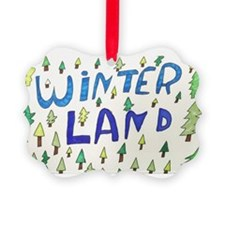 Winter Land Picture Ornament