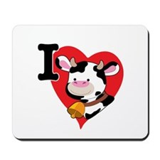 I Love Cows Mousepad