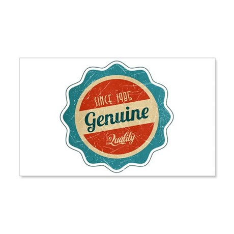 Retro Genuine Quality Since 1985 20x12 Wall Decal