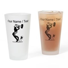 Custom Vintage Strongman Drinking Glass