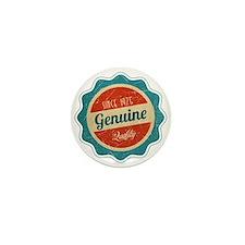 Retro Genuine Quality Since 1975 Mini Button