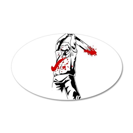 Kill The Zombies 20x12 Oval Wall Decal