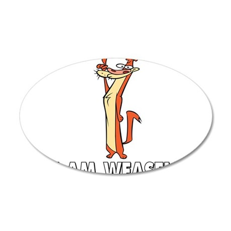 I Really Am Weasel! 20x12 Oval Wall Decal