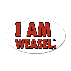 I Am Weasel Logo 20x12 Oval Wall Decal