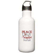Senior Optional Text Water Bottle