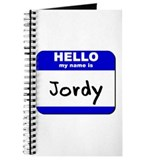 hello my name is jordy Journal