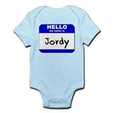 hello my name is jordy  Onesie