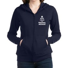 Personalized Keep Calm and Baseball Zip Hoodie