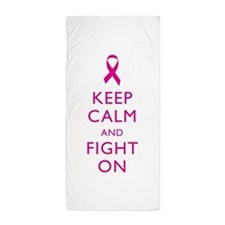 Keep Calm And Fight On Breast Cancer Support Beach
