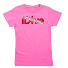 idive scuba wet flag Girl's Tee