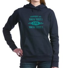 PROP YOUR TEXT TEAL Hooded Sweatshirt