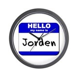 hello my name is jorden  Wall Clock