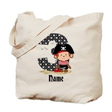 Personalized Monkey Pirate 3rd Birthday Tote Bag