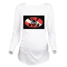 iDive Flag Rectangle 2012 Long Sleeve Maternity T-