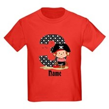 Personalized Monkey Pirate 3rd Birthday T