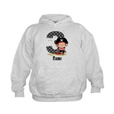 Personalized Monkey Pirate 3rd Birthday Hoodie