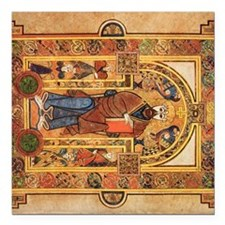"Book of Kells Square Car Magnet 3"" x 3"""