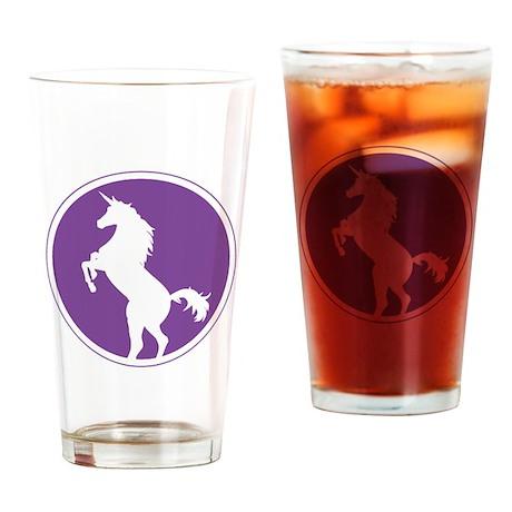 Unicorn Silhouette Purple Drinking Glass